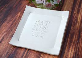 personalized wedding platters wedding gift eat drink and be married personalized wedding