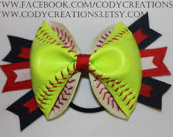 softball hair bows softball hair bow etsy