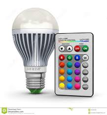 Remote Control Led Light Bulb by Multicolor Led Lamp With Wireless Remote Control Stock