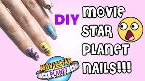Movi Stars Planete by Diy Movie Star Planet Nails Youtube