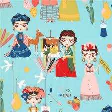 turquoise henry fabric frida colorful cactus folklorico