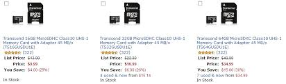 amazon black friday mitcobsd cards deal alert amazon gold box discounts transcend microsd cards