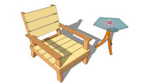Diy Wooden Garden Furniture by Interesting Simple Wooden Chair Plans Wood Patio Modern With