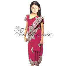 shop online for indian kids wear girls readymade pre pleated india