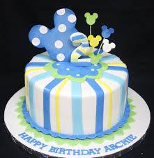 baby mickey mouse 1st birthday cake decoration complete deelite
