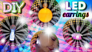 led earrings how to make led earrings diy led light up earrings