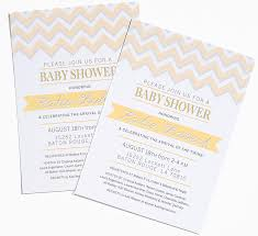 baby shower invitations latest chevron baby shower invitations