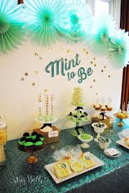 mint to be bridal shower mint to be bridal shower dessert table itsy belleitsy