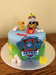 paw patrol birthday cake featuring rubble dog keene nh