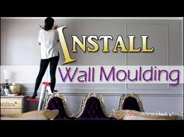 diy molding diy how to install wall moulding molding trim living room