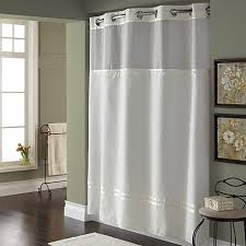 Hotel Shower Curtains Hookless Hookless Escape 71 Inch X 86 Inch Long Fabric Shower Curtain And
