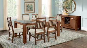 7 Pc Dining Room Sets Vandele Brown 7 Pc Rectangle Dining Room Dining Room Sets Wood