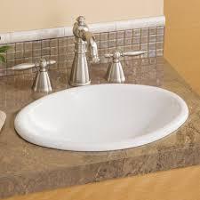 Bathroom Sink Tile Cheviot 1102 Wh Mini Oval Drop In Basin Self Rimming Bathroom Sink
