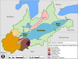 Map Of Michigan Lakes Recommended Binational Phosphorus Targets Great Lakes Water