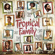 family photo album tropical family