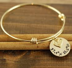 personalized bangle coordinate bracelet heart bangle personalized bangle bracelet