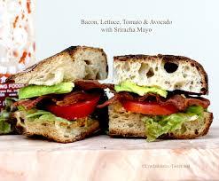 sriracha mayo blt with avocado and sriracha mayo tastefood