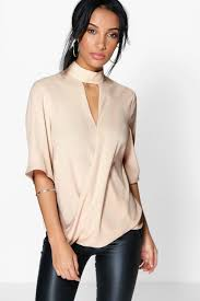 wrap shirts blouses drape wrap front blouse jackets for keep warm fitted jacket