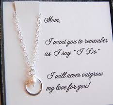card to groom from of the card with silver infinity pearl necklace