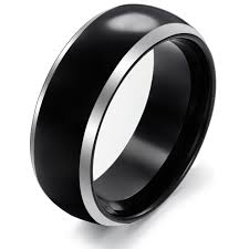 mens black rings mens wedding bands black and white gold choose the best men s