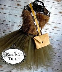 Wookie Halloween Costume Chewbacca Inspired Costume Wookie Tutu Dress Costume