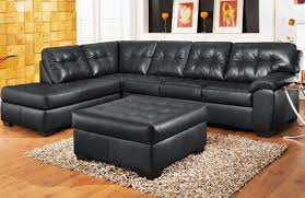 Cheap Black Leather Sectional Sofas Cheap Black Leather 1 3 Bonded Leather Sectional Sofa