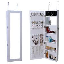 Jewelry Cabinets Wall Mounted by White Jewelry Armoire Ebay