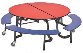 cafeteria benches amtab mobile round cafeteria table with benches mbr604