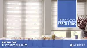 fresh look flat sheer shadings from blinds com youtube