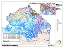 Louisiana Parishes Map by District Map