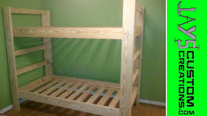 Build Your Own Loft Bed Free Plans by Twin Over Twin Bunk Bed 023 Youtube