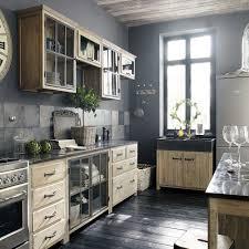 meuble bas de cuisine en pin recyclé l 89 maisons du monde