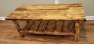 amazon com midwest log furniture torched cedar log coffee table