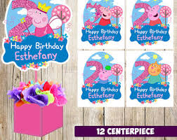 peppa pig decorations peppa centerpiece etsy
