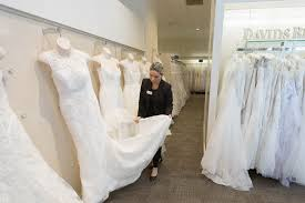 wedding dress alterations london david s bridal doesn t want to be the walmart of weddings anymore