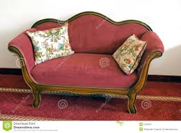 vintage red sofa stock image image 2166341