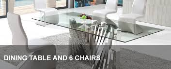 Glass Dining Table And 6 Chairs Glass Dining Table And 6 Chairs Modenza Furniture Intended For