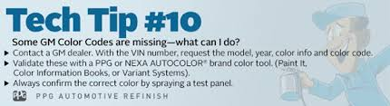 some gm color codes are missing u2013 what can i do