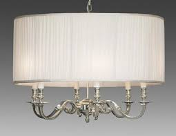 brass and fabric shade three light chandelier lcfi 22b u2013 federalist