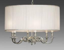 brass and fabric shade three light chandelier lcfi 22b u2013 federalist