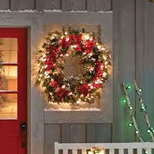 pre lit wreath artificial christmas wreaths you ll wayfair