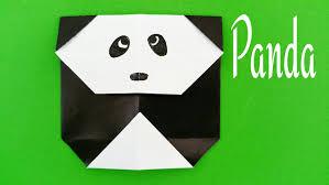 how to make a easy paper u0027panda u0027 origami for beginners youtube