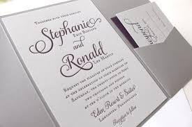 Wedding Pocket Envelopes Violet Letterpress Printed Wedding Invitations Dinglewood Design