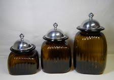 glass kitchen canisters sets artland glass kitchen canister sets ebay