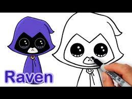 draw raven teen titans cute easy