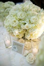 White Roses Centerpieces white hydrangea centerpieces with accents of mini green hydrangea