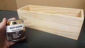 Wooden Home Decor Stain Your Own Diy Wood Flower Box Home Decor