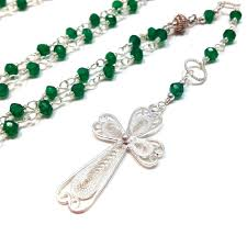 rosary necklace green onyx rosary necklace amaria