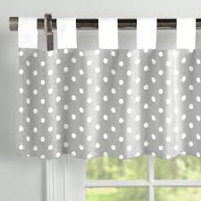 gray and white dots and stripes window valance tab top carousel