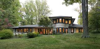 Frank Lloyd Wright Inspired Home Plans 2003 Prairie Style In Annapolis Maryland Oldhouses Com